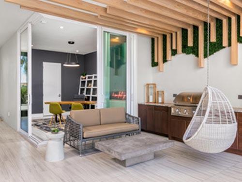 modernes Wohnzimmer vom Schreiner